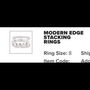 Silpada stack rings